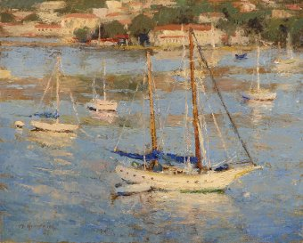 Harbor scene Plein Air painting