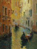 Small Plein Air Venice waterways painting